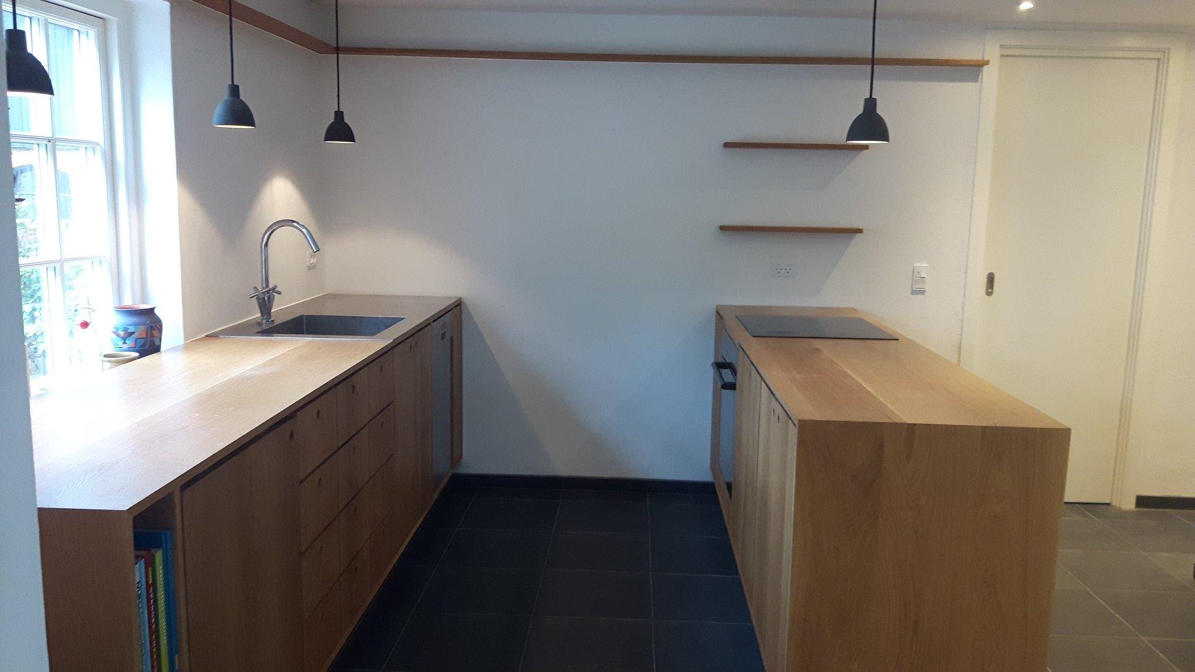 Køkken i massiv eg, privat kunde